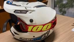 Título do anúncio: Capacete Motocross Liberty Mx Pro branco + Óculos 788 vermelho Tamanho 58