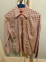 camisa dudalina tam 40 estampa xadrez