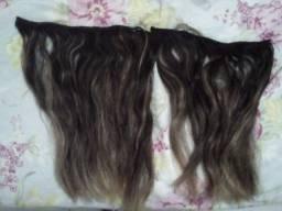 2 apliques de cabelos naturais