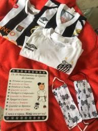 Kit do Santos -  3!camisetas 1?placa e 2 máscaras