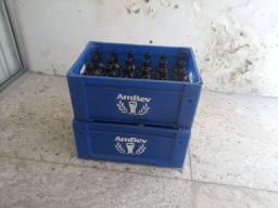 Caixa de cerveja com vasilhames