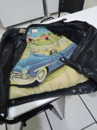Jaqueta de couro legítimo da marca diesel..