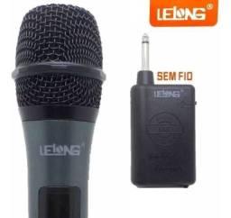 Microfone Sem Fio Profissional Lelong Le- 996w Profissional