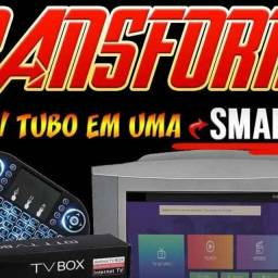 Aparelho de tv box transforme sua tv antiga em uma smart tv