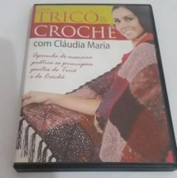 Dvd - Coleção Tricô & Crochê Com Claudia Maria
