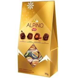 02 Bombom Alpino Recheado Nestle 195g Lançamento Luxo Sabor
