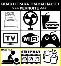 Quarto para Trabalhador Homem (3/Pernoites) c/ lanche+internet