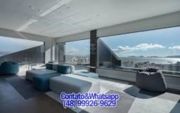 Sala 45m² no Black Office Class no Estreito. Condomínio Completo! Vista p/Mar