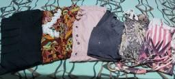 6 vestidos.  Todos por 30 reais. Sai a 5 reais cada.