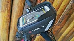 Suporte de celular, p/ guidão da bike - TOP