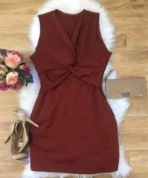 Vestido Tubinho Plus Size Vinho
