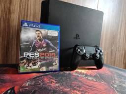 Playstation 4 slim 500GB semi novo 1 jogo 1 controle