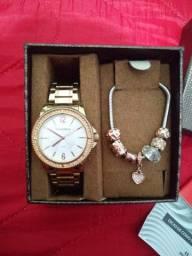 Relógio Original Feminino Mondaine+Pulseira.