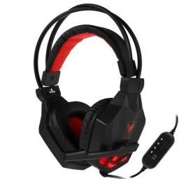 Fone Gamer headset Com led