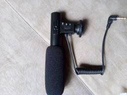 Microfone captador para câmeras/filmadoras/celulares/ notebook