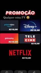 Netflix ultra hd globoplay com canais ao vivo Disney Amazon prime