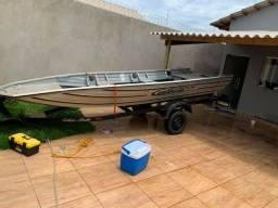 Canoa,motor ,motor elétrico ,bateria carretinha