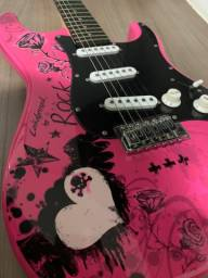 Guitarra Eagle Rosa Egp-10 Cr Strato Caster