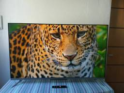 Smart tv tcl 50 controle comando de voz 4K.