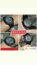 Título do anúncio: Relógio digital militar R$35 promoção dia dos pais