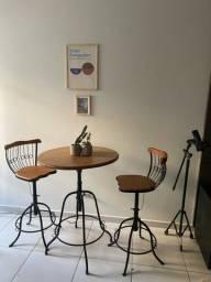 conjunto de mesa com 2 cadeiras industrial