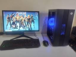 """PC Gamer 7th + RX 470 + LED 20"""" (Roda vários games)"""