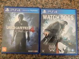Watch dogs PS4 e Uncharted 4 PS4