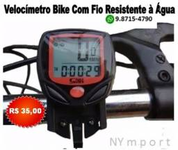 Velocímetro Odômetro Bike Com Fio Computador 15 Funções Resistente à Água