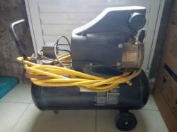 Título do anúncio: Compressor Schuz 30 litros 2,0Hp 116 lbf com mangueira, pistola de pintura profissional