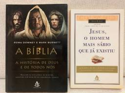 Kit 02 livros - A Blíblia A História De Deus & Jesus O Homem Mais Sábio que existiu