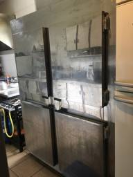 Freezer industrial 4 portas Inox