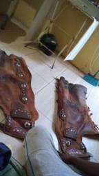 Calça de couro boas condições