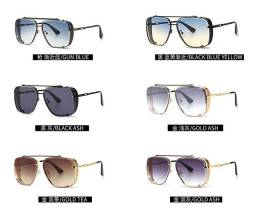 Óculos de sol gradiente com proteção UV luxo