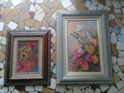 2 Quadros pintados à mão