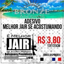 Melhor Jair Acostumando Bolsonaro (adesivo Recorte Em Vinil)
