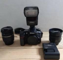 Nikon 7100+35mm+17-50mm+flash Sb-700