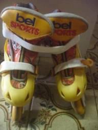 Patins Fashion Rollers Amarelo\Laranja - Bel Sports 28\31