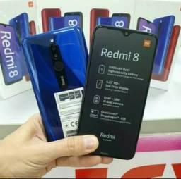 Redmi 8 64Gb e 32Gb azul bateria 5000mah lacrados