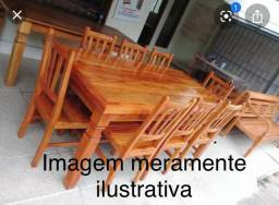 Mesa de Madeira Maciça 8 lugares >>PROMOÇÃO<