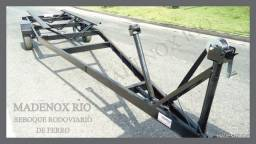 Carrreta Rodoviária de ferro para barco