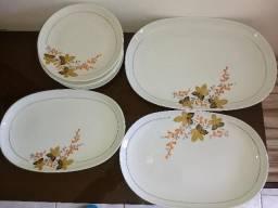 Conjunto porcelanarealdéc de 60 desenhos florais