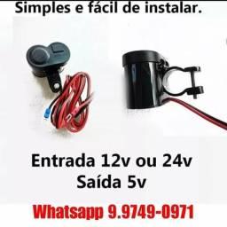 Carregador USB P/ Moto