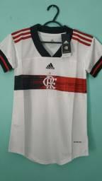 Camisa do Flamengo Branca Feminina 2020/21