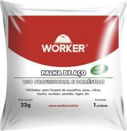 Kit com 10 Palha Aço Nr 1 22Gr Worker