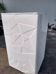 Vaso de cerâmica geométrico 3D