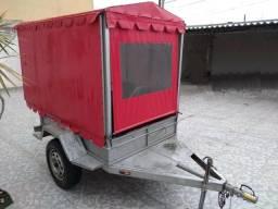 Carretinha carreta carrinho reboque caldo de cana Completa com moenda cana shop 200!!!