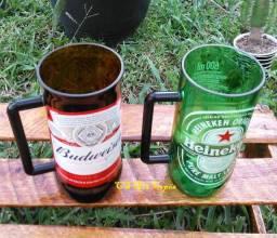 Canecão Heineken ou Budweiser ( kit com 2 canecoes)