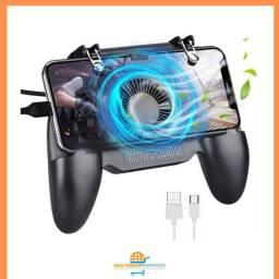 Controle Joystick Gatilho com Cooler para Celular