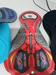 Forros de Gel Para Calça e Bermudas de Ciclismo