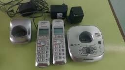 Telefone sem Fio com ID Base + Ramal Prata Panasonic